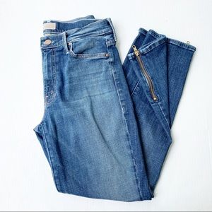 Mother The Rascal High Waist Ankle Zip Jeans